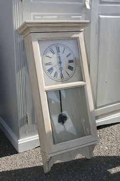West Furniture Revival: REVIVAL MONDAY FEATURES #39.  Such a great upcycle from and old regulator!