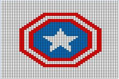 Super Hero Logo Charts, by The Happy Hooker Blog – this crocheter has charted nearly all the big ones! She's got Batman, Superman, Wonder Woman, Iron Man, Captain America, The Flash, and many more. Read more at http://www.mooglyblog.com/superhero-crochet-and-knit-free-pattern-list/#K88kCVOgEaOU1TlS.99
