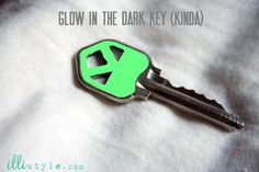 DIY Glow in the dark #house key (kinda glows - def easier to find in your purse at night)