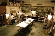I really like this space! i wish my studio was this big :)  http://www.creativeartspaceforkids.org/studio-tour/art-studio.jpg