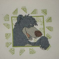 Cross Stitch - Bear panel for Kids Company Project - stitched March 2010