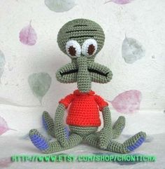Squidward 15 inches  PDF crochet pattern by Chonticha on Etsy, $5.00