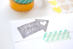 DIY Carved Stamp - I love this idea, it's such a sweet touch to a letter