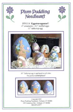 11 Easter Egg Pattern, Punch Needle, Wool Felt, Easter Eggs, Plum, Sewing Patterns, Mandala, Centerpieces, Applique