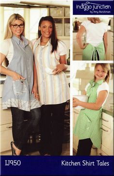 Kitchen Shirt Tales Apron pattern from Indygo Junction