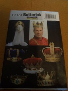 Butterick Making History Pattern B5161  One Size Crowns Uncut