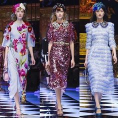 Dolce&Gabbana Fall-Winter 2016-17 #DGFabulousFantasy Women's Fashion Show. Stunning and Sparkling Clothes, Glamour Floral Designs, and especially beautiful Pastel Colours. More insights on @dolcegabbana and #dgfw17. Also follow @voguerunway and #MFW.