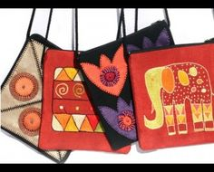 Beautifully handcrafted sling purses from Swaziland