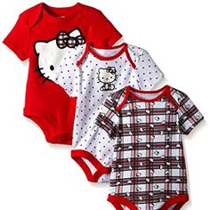 Hello Kitty Baby Girls' Value Pack Bodysuits, Red/White/Black, 6/9 Months //Price: $ & FREE Shipping // #collectibles World of Hello Kitty https://worldofhellokitty.com/product/hello-kitty-baby-girls-value-pack-bodysuits-red-white-black-6-9-months/