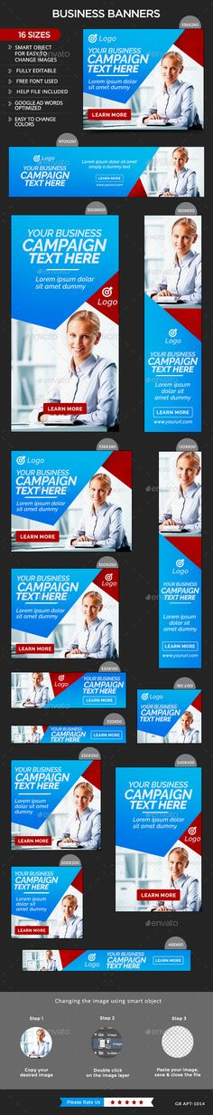 Business Web Banners Template PSD #design Download: http://graphicriver.net/item/business-banners/13976519?ref=ksioks