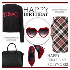 """""""Happy Birthday Polyvore"""" by irena123 ❤ liked on Polyvore featuring Alexander McQueen, Versace, Giuseppe Zanotti, Givenchy, women's clothing, women, female, woman, misses and juniors"""