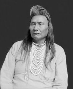 "Chief Joseph,  3-3-1840 – 21-9-1904, was the leader of the Wallowa band of Nez Perce during General Oliver  Howard's attempt to forcibly remove his band and the other ""non-treaty"" Nez Perce to a reservation in Idaho. For his principled resistance to the removal, he became renowned as a humanitarian and peacemaker.  ""Hear me, my chiefs! I am tired. My heart is sick and sad. From where the sun now stands, I will fight no more forever"". On his surrender to Gen. Howard."