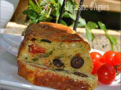 Recette Entrée : Cake courgette feta tomates olives par Agnes.f