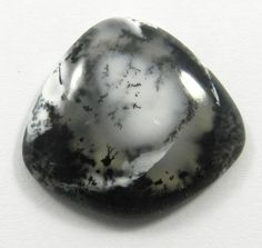 Dendritic Opal Cabochon Black and White Cabochon Moss Opal  C-2261