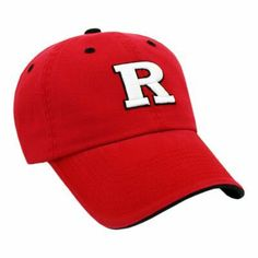 Rutgers Scarlet Knights Enzyme Washed Adjustable Hat by Unknown. $12.94. Officially licensed by the Rutgers Scarlet Knights. Top Quality, Manufactured by Top Of The World. Officially licensed by the NCAA. Show your Rutgers pride in this unconstructed adjustable hat. Let everyone know that the Scarlet Knights spirit is always first on your mind. Unconstructed with an adjustable back strap Bright Rutgers colors and logo Fits most head sizes Offically Licensed by NCAA