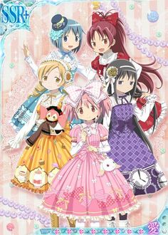 Old-fashioned Magical Girl costumes