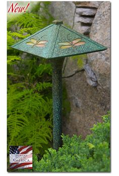 """American Made"" of solid brass with a magnificent patina finish, our garden lights are beautiful by day as they are functional by night. Our low voltage pathway lights can easily replace a worn out fixture in your existing garden lighting system or be part of a new garden lighting design."