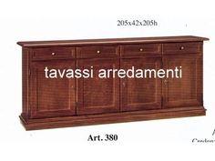 Credenza 4 ante stile classico noce scuro arte povera completa di 4 cassetti ante con chiusura a chiave disponibile in pronta consegna ARREDAMENTI...