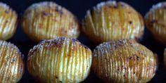 Hasselback-kartofler med hvidløg og paprika - Powered by @ultimaterecipe