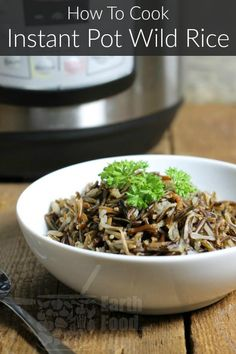 Instant Pot wild rice is so easy to cook! Set it and forget it for an easy and healthy side dish with no extra work involved! Cooking Wild Rice, Just Cooking, Cooking Time, Instant Pot Pressure Cooker, Pressure Cooker Recipes, Pressure Pot, Slow Cooker, Pressure Cooking, Wild Rice Recipes