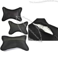 black-2pcs-mesh-dog-bone-shape-car-neck-pillow-cushion-with-cosmos-fastening-strap-965125824.jpg (600×600)