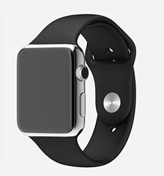 Sports iWatch Band Strap for Apple Watch Series 5 4 3 2 Easy and direct installation and one button removal. Silicone Watch Band ONLY ! > For Apple Watch Series 5 /Series 4 / Series 3 / Series 2 / Series Apple Watch 42mm, Apple Wrist Watch, Apple Watch Series 2, Apple Watch Men, Black Apple Watch Band, Apple Band, Smartwatch, Apple Watch Silicone Band, Led