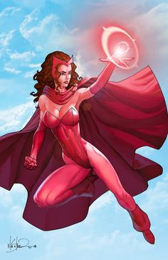 Scarlet Witch by Mike S. Marvel Women, Marvel Avengers, Comic Book Artists, Comic Books, Marvel Vision, Scarlet Witch Marvel, Love And Lust, Science Fiction Art, Princess Zelda