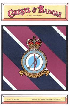 #retweet #postcards Postcard RAF Royal Air Force Station SCAMPTON Crest Badge No.134 NEW #RT 50% OFF when you Buy 3+