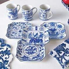 Table & Kitchen Accents - Blue & White Serveware