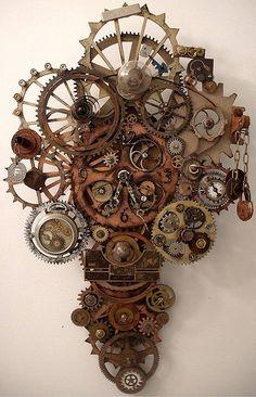 clock, steampunk, and fashion image