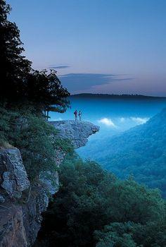 On the Edge, Whitaker Point, Arkansas photo via sara