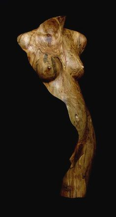 brown - woman - wood - sculpture - Chad Awalt