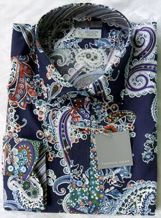 This is one sweet shirt! Paisley psychedelic inspiration. Men's boho