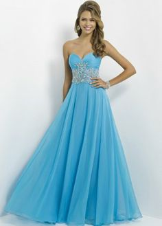 Blush 9795 Strapless Beaded Long Prom Dresses 2014 J I would love this in black! It's beautiful