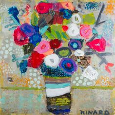 """""""Fresh And Lucky"""" 36x36 mixed media Available at Shain Gallery 704-334-7744"""