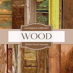 Wood Textures Digital Paper DP654 - Digital Paper Shop - 1