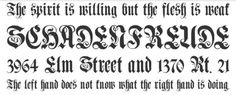 Fonts for Tattoo 04