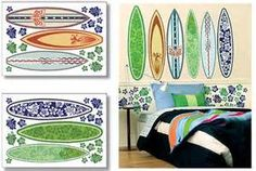surf girl & board decal - Bing Images