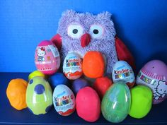 Play Doh Kinder Surprise Eggs - Hello Kitty - Playdoh Eggs.  Kinder eggs, Playdoh surprise eggs