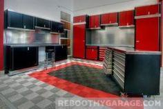 How Do You Fix Garage Floor Cracks? Garage Ceiling Storage, Garage Storage Cabinets, Diy Garage Storage, Garage Organization, Storage Ideas, Storage Systems, Garage Floor Mats, Garage Floor Epoxy, Garage Flooring