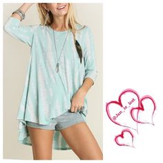 Mint Tie Dye Tunic Mint Print Away with Me Tie Dye Tunic