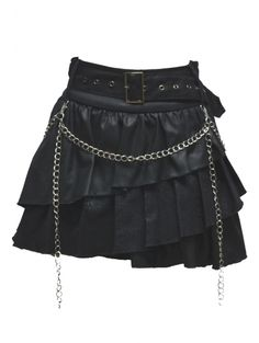 I don't like the chain on the front but I like everything else about this skirt!
