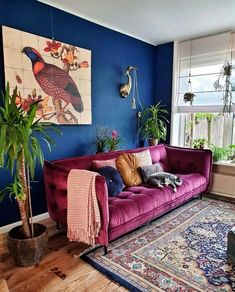 interior decor trends living room decor ideas, modern living room Home Decor New Interior Decor Trends That Will Be Huge in 2020 (Part II) by DLB Home Living Room, Living Room Designs, Living Room Trends, Colourful Living Room, Modern Living Room Colors, Colorful Couch, Colorful Rooms, Retro Living Rooms, Bohemian Living Rooms