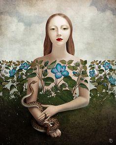Eva and the Garden ~ Christian Schloe