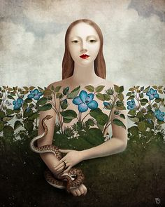 Eva and the Garden ~ Christian Schloe