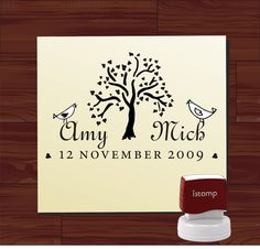 Custom  Personalized   SELF - INKING   address  or save the date rubber  style 1209 via Etsy