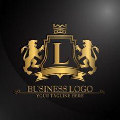 Elegant logo with two lions design Vector Logo Restaurant, Car Logo Design, Logo Design Template, Logo Templates, Camera Logo, Corporate Branding, Identity Branding, Logo Royal, Leon Logo
