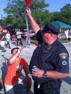 Officer McCluskey, always the loyal public servant.