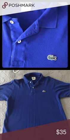 Lacoste Men's polo shirt Blue, clean Lacoste polo shirt that is in great shape! Lacoste Shirts Polos