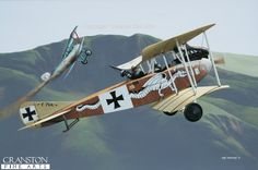 Leutnant der RESERVE Erwin Bohme by Ivan Berryman. Albatros C.III C.766/16 was among the most distinctively-painted aircraft of World War 1, its fuselage sides decorated with a dragon motif on the starboard side and a stylised crocodile on the other, both apparently chasing a tiny white biplane. This was the aircraft SHARED by Erwin Bohme and his observer, Leutnant Ladermacher while serving with Jasta 10 on the Eastern Front in August 1916. Bohme was soon chosen to fly with the great Oswald…